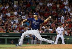 Tampa Bay's David Price pitched a complete game in Game 3 of the Red Sox-Rays four-game series. He surrendered only five hits on 97 pitches, as the Rays beat the Red Sox 5-1 to cut Boston's lead in the AL East down to 0.5 games.  AP Photo