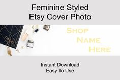 By purchasing this listing you will receive a 3360x840 pixels styled Etsy Banner stock photo.High resolution (300 DPI).  Don't have the proper camera and props for shooting a nice Cover Photo? You wan't to focus on creating your products instead of creating marketing materials to your Etsy Shop?I'we got you covered!  Click to find more Etsy Shop Banner Styles! Branding Materials, Marketing Materials, Media Marketing, Etsy Business, Business Tips, Invitation Mockup, Wedding Save The Dates, Banner Template, Cover Photos