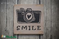 Smile feliratos fa tábla (DreamDecor) - Meska.hu