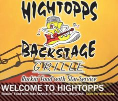Hightopps Backstage Grille - Timonium, MD. Sit on the patio and hear live music or play trivia indoors!