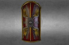 """Scutum Square Shield"" by jrd on Sketchfab"