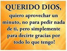 Querido Dios, ...