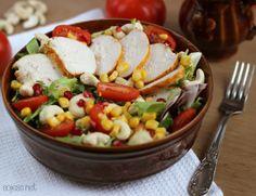 Sałatka na kolację - lekka i sycąca Cobb Salad, Potato Salad, Healthy Recipes, Healthy Food, Potatoes, Dinner, Cooking, Ethnic Recipes, Diet