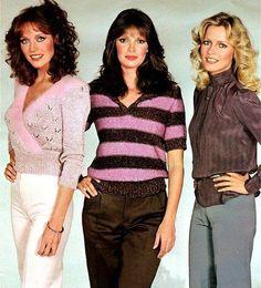Tanya Roberts as Julie Rogers, Jaclyn Smith as Kelly Garrett and Cheryl Ladd as Kris Munroe