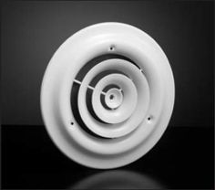 "Hart & Cooley® 16 Series - 10"" Round Ceiling Diffuser (# 1610) by Hart & Cooley. $13.99. The Hart & Cooley® 16 Series 10"" round ceiling diffuser is designed to fit a 10"" hole in the ceiling. The overall outside dimensions of the diffuser is 13-15/16""L x 13-15/16""W x 11/16""D."