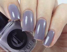 Cirque Colors - The Metropolis Collection 2015: Deco is a darker lavender grey creme. Depending on your light source, this can show up more grey or more lavender. 2 coats plus top coat