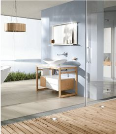 Sensuous lightness & natural vitality are apparent in every element in Villeroy & Boch- My Nature collection. The exciting combination of the flowing lines of high-quality ceramic & European chestnut wood creates harmonious contrast in design. #arthausbk #villeroyboch #mynature #bathroominspo