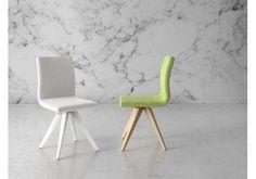 silla comedor tapizada al mejor precio Elf con pata cromada | Sillas ...