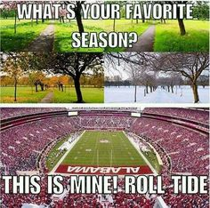 I'd gladly skip spring and most of summer just to fast forward over to Alabama football season! Alabama Football Funny, Alabama Baby, Football Fans, Football Season, Roll Tide Football, Crimson Tide Football, Bama Fever, Alabama Crimson Tide Logo, College Game Days