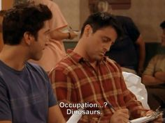 Occupation...? Dinosaurs