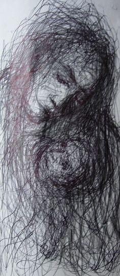 Pen Study by Tim Burton