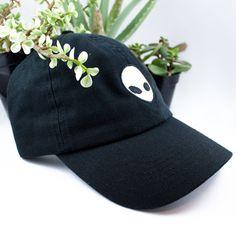 e07d499f985 Alien Baseball cap hat Black Space Science by GoodOmenEtsy