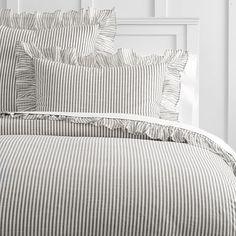 The Emily & Meritt Ruffle Stripe Duvet Cover + Sham | PBteen