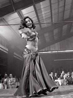 Veteran Egyptian belly dancer Samia Gamal. Photo by LIFE Magazine, 1951 or 1952. سامية جمال