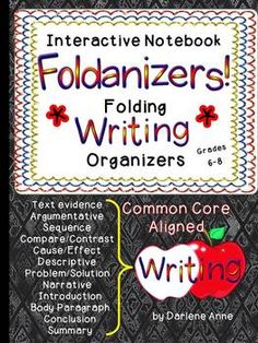Everything you need to bring your students' writing notebooks to life with interactive Foldanizers: folding writing organizers!