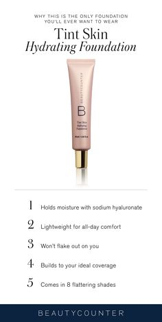 This foundation blends seamlessly, builds, feels weightless all day, and is formulated with sodium hyaluronate to attract and seal in essential moisture.
