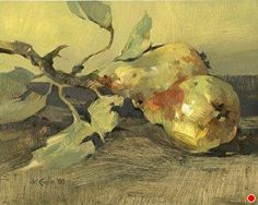 Just Picked, 2008 by Kathy Gale Oil ~ 10 inches x 8