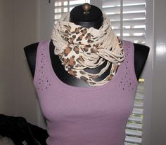 scarf made from leopard tee