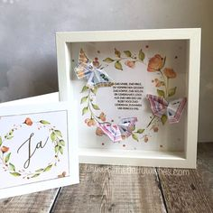 """Bettina Reisinger on Instagram: """"Auf meinem Blog zeige ich euch heute (nochmal) ein Geschenkset zur Hochzeit, das ich als Kreativteam-Mitglied für @unserekleinebastelstube…"""" Frame, Blog, Instagram, Home Decor, Creative, Wedding, Picture Frame, Decoration Home, Room Decor"""