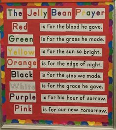 Jelly Beans, Teaching Ideas, Prayers, Orange, Purple, Red Dates, Prayer, Beans, Viola