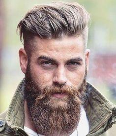 Kiểu Tóc Nam đẹp Undercut + Brush Back + Beard