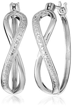 Sterling Silver Infinity Hoop Earrings * To view further for this item, visit the image link.