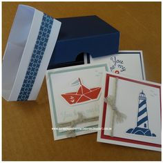 Butterfly Hearts Scrapbooking and Paper Crafts: Regatta Pizza Box and Cards #CTMH