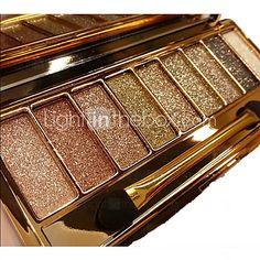 9 Paleta de Sombras Secos / Brilho / Mineral Paleta da sombra Pó NormalMaquiagem para o Dia A Dia / Maquiagem Esfumada / Maquiagem para - BRL R$21,26