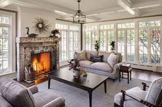 1880s farmhouse sunroom addition...love love love! Especially all the windows! #home #decor