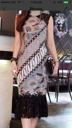 Most Popular dress brokat batik 67 Ideas Batik Kebaya, Kebaya Dress, Trendy Dresses, Nice Dresses, Casual Dresses, Long Dress Fashion, Fashion Dresses, Model Dress Batik, Modern Batik Dress