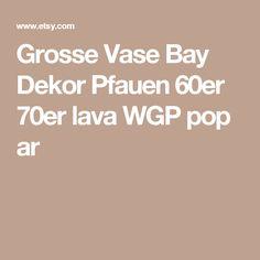 Grosse Vase Bay Dekor Pfauen 60er 70er lava WGP pop ar
