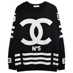 chanel inspired no. 5 coco sweatshirt | women's urban fashion & streetwear | 7twentyfour.com ($62) found on Polyvore