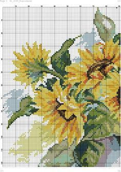 Foto Cross Stitch Charts, Cross Stitch Designs, Cross Stitch Patterns, Embroidery Stitches, Embroidery Patterns, Cross Stitch Kitchen, Flowers For You, Cross Stitch Flowers, Fabric Art