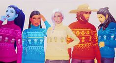 Ornamental: Overwatch character themed Ugly Winter sweaters by Valhallan
