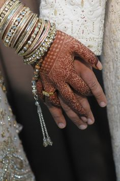 "Henna & bracelets - ""Portrait of a Muslim Bride"" by AH Portrait Photography #Perfect Muslim Wedding"