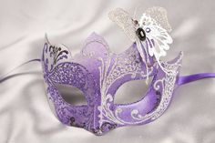 images of masks masquerade | Masquerade Mask with Filigree Metal Butterfly - TERESA SILVER