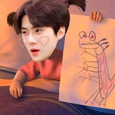 Exo Kai, Chanyeol, Korea Design, Exo Ot12, Fan Art, Lol, Humor, Memes, Cute