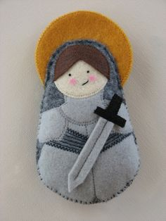 Saint Joan of Arc....Felt Softie. $18.00, via Etsy.