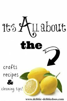 It's all about the lemons. #Crafts,#wreaths, #cleaningtips,#recipes