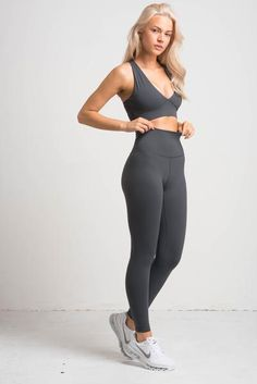 1f7febfcf9ad82 Luxe Leggings - Steel Grey – FLEXXFIT