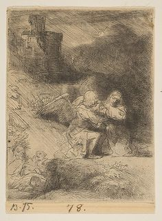The Agony in the Garden Rembrandt (Rembrandt van Rijn)  (Dutch, Leiden 1606–1669 Amsterdam)