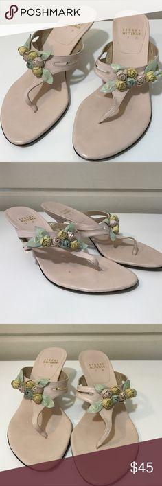 LIKE NEW STUART WEITZMAN ROSE  BOUQUET SANDALS LIKE NEW STUART WEITZMAN ROSE  BOUQUET SANDALS VERY BEAUTIFUL & UNIQUE AND IMPOSSIBLE TO FIND SZ 7 Stuart Weitzman Shoes Sandals