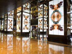 The Cosmopolitan of Las Vegas has eight large floor-to-ceiling video columns that use photography and film to tell a story.