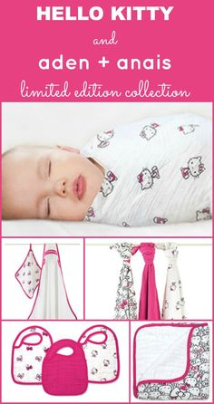 Aden Anais Limited Edition Hello Kitty Collection Baby Stuff Nursery