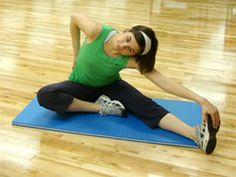 Today's Exercise: Seated Side Hurdler Stretch