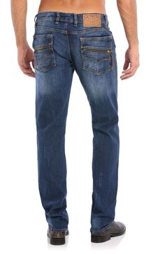 Guess Lincoln Zip Seasonal Slim Straight Jeans