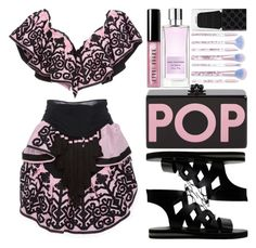 """""""#145"""" by theevilraccoon ❤ liked on Polyvore featuring Yuliya Magdych, Edie Parker, Bobbi Brown Cosmetics, Angel Schlesser, Lime Crime and Gucci"""