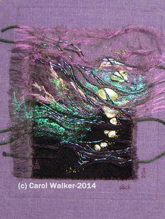 "Carol Walker, Slick, 6x10.5"", 2-2014 #fiber art #embroidery"