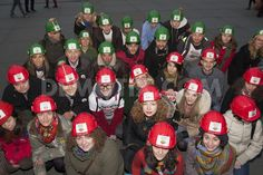 "Wearing red and green miners' helmets London's Romanian community and their supporters held their 13th in a series of protests against RMGC's proposed ""cyanide"" gold mine in Rosia Montana, Transylvania, where environmental risks outweigh the benefits"