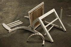 Deconstructed Chair - by Robbie Rowlands Modern Sculpture, Wood Sculpture, Sculptures, Deconstructed Art, A Level Textiles, Architectural Sculpture, Selling Art Online, Deconstruction, Art Object
